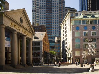 Quincy Market by Faneuil Hall, Boston, Massachusetts, USA-Amanda Hall-Photographic Print