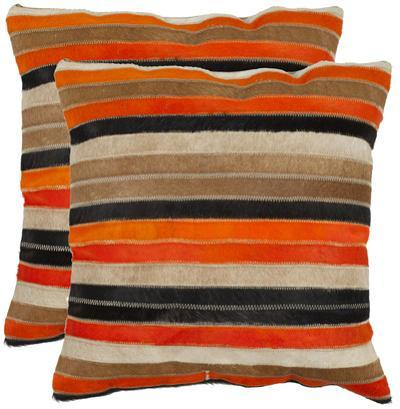 Quinn Pillow Pair - Orange/Tan