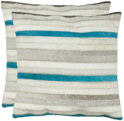 Quinn Pillow Pair - Teal/Grey--Home Accessories