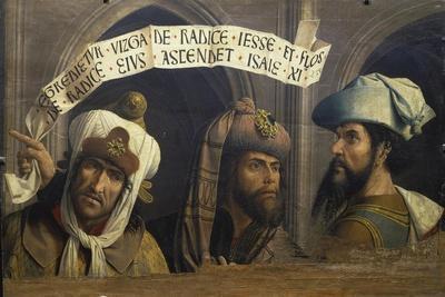 Koepfe Dreier Biblischer Propheten