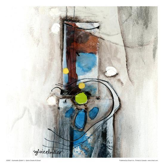 Quintuplés (Détail 1)-Sylvie Cloutier-Art Print