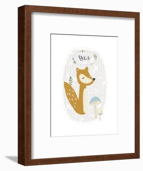 Quirky Forest II-June Vess-Framed Art Print