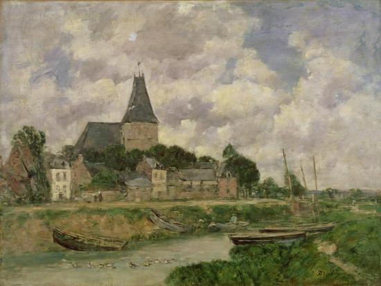 Quittebeuf, 1893-Eug?ne Boudin-Giclee Print
