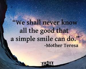 A Simple Smile - Mother Teresa Quote by Quote Master