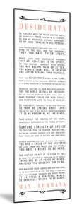 Desiderata Bus Roll Black and Peach Text by Quote Master