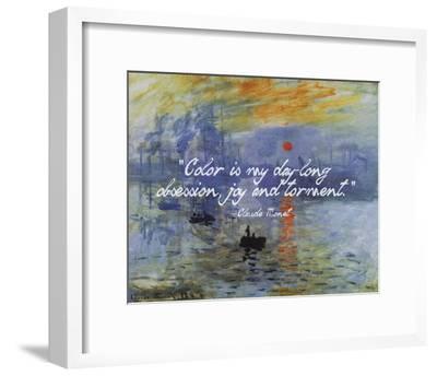 Monet Quote Impression Sunrise