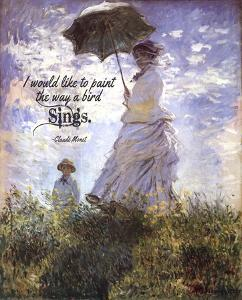 Monet Quote Madame Monet and Her Son by Quote Master