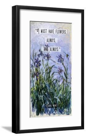 Monet Quote Purple Irises