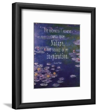 Monet Quote Waterlilies at Giverny