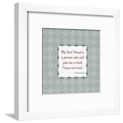 Quotes - Lincoln - On Books-BG^Studio-Framed Art Print