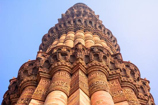 Qutb Minar, the Tallest Brick Minaret in the World , Delhi India.-jackfrog-Photographic Print