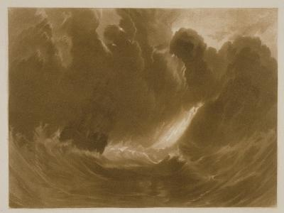 R.803 Ship in a Storm, from the 'Little Liber', Engraved by the Artist, C.1826-J^ M^ W^ Turner-Giclee Print