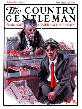 """""""Candy Counter,"""" Country Gentleman Cover, September 15, 1923"""
