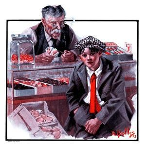 """""""Candy Counter,""""September 15, 1923 by R. Bolles"""