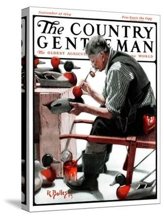 """""""Painting Decoys,"""" Country Gentleman Cover, September 27, 1924"""