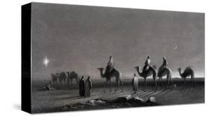 Jesus' Birth Magi Follow Star Across the Desert by R. Brandard