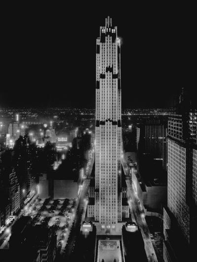 R.C.A. Building at Rockefeller Center, New York--Photographic Print