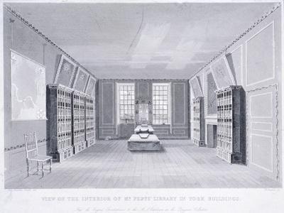 Interior View of Mr Pepys' Library in York Buildings, Westminster, London, C1670