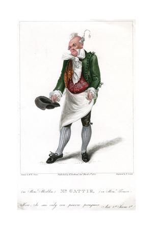 Mr Gattie as Monsieur Morbleu in Monsieur Tonson, 1822