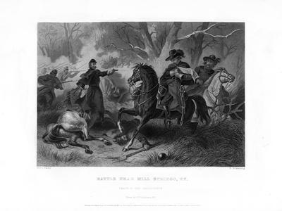 Death of General Felix Zollicoffer, Battle of Mill Springs, Kentucky, January 1862