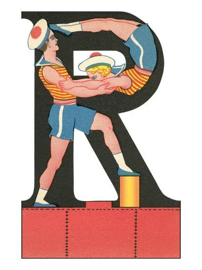 R for Roughhousing--Art Print