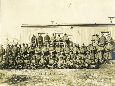 "Federal Troops Brought In To Put Down Strikes In Goldfield, Co. ""F"" 1st Infantry NG Of Colorado"