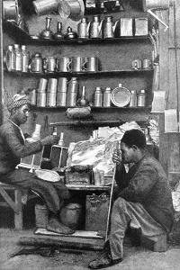 Tinsmiths in a Tinsmith's Shop, India, 1922 by R Gorbold