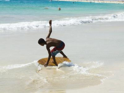 Beach Surfing at Santa Maria on the Island of Sal (Salt), Cape Verde Islands, Africa by R H Productions