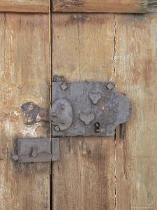 Close-Up of Lock on an Old Door, Goreme, Cappadocia, Anatolia, Turkey by R H Productions
