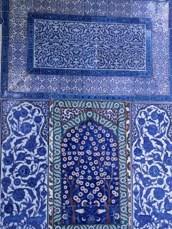 Close-Up of Mosaic, Topkapi Palace, Istanbul, Turkey by R H Productions