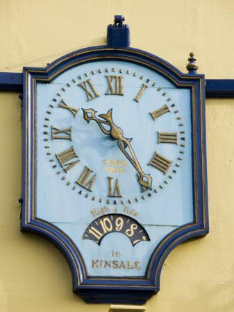 Famous Clock on the Blue Haven Hotel, Kinsale, County Cork, Munster, Republic of Ireland by R H Productions