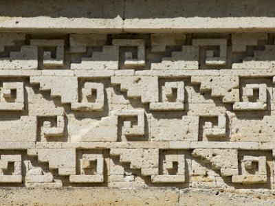 Fantastic Geometric Stone Carving, Mitla, Ancient Mixtec Site, Oaxaca, Mexico, North America by R H Productions
