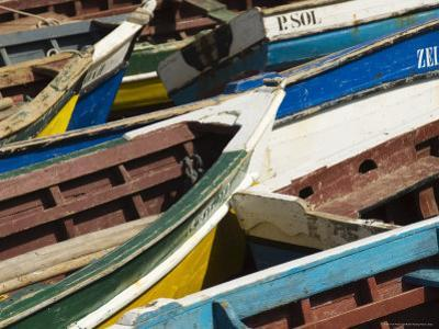 Fishing Boats at the Port of Ponto Do Sol, Ribiera Grande, Santo Antao, Cape Verde Islands by R H Productions