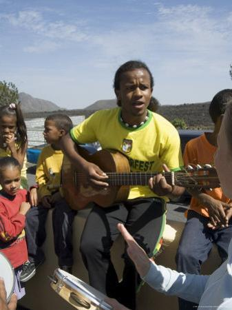 Musical Event at Local School in the Volcanic Caldera, Fogo (Fire), Cape Verde Islands, Africa by R H Productions