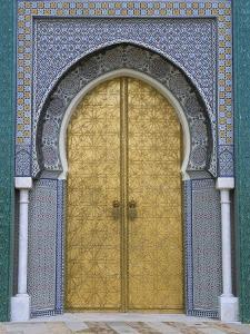 Ornate Doorway, the Royal Palace, Fez, Morocco, North Africa, Africa by R H Productions