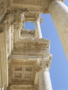 Reconstructed Library of Celsus, Archaeological Site, Ephesus, Anatolia, Turkey by R H Productions
