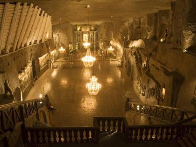 The Cathedral in the Wieliczka Salt Mine, Unesco World Heritage Site, Near Krakow (Cracow), Poland by R H Productions