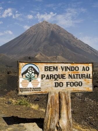 The Volcano of Pico De Fogo in the Background, Fogo (Fire), Cape Verde Islands, Africa by R H Productions
