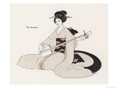 Japanese Musician Plays the Samisen