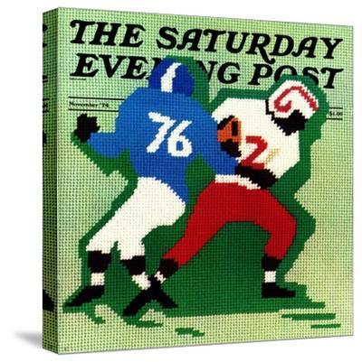 """ Needlepoint,"" Saturday Evening Post Cover, November 1, 1974"