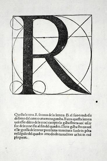 R, Illustration from 'Divina Proportione' by Luca Pacioli (C.1445-1517), Originally Pub. Venice,…-Leonardo da Vinci-Giclee Print