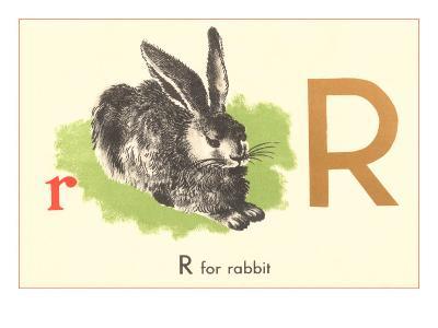 R is for Rabbit--Art Print