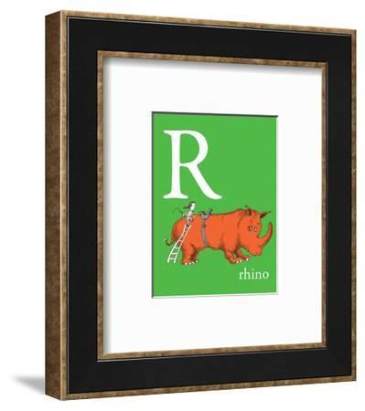 R is for Rhino (green)-Theodor (Dr. Seuss) Geisel-Framed Art Print