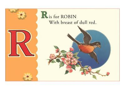 R is for Robin--Art Print