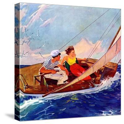 """Couple Sailing,""July 1, 1937"