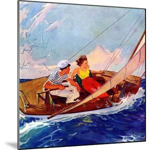 """""""Couple Sailing,""""July 1, 1937 by R^J^ Cavaliere"""