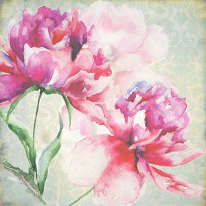 Lovely Peony Blossoms by R. Jersova