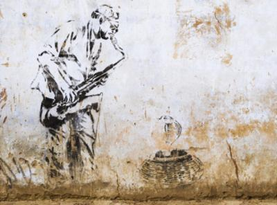 Street Art Mural in Pushkar, Rajasthan, India