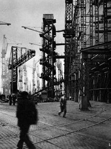 R.M.S. 'Queen Mary' under Construction, Clydebank, 1934