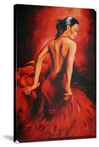 Red Dancer - Flamenco by R. Magrini